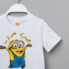 """Футболка детская Миньон """"Yellow"""", Гадкий Я, р.32 (110-116 см), белый - фото 105485459"""