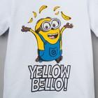"""Футболка детская Миньон """"Yellow"""", Гадкий Я, р.32 (110-116 см), белый - фото 105485460"""
