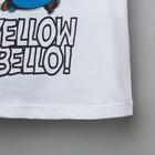 """Футболка детская Миньон """"Yellow"""", Гадкий Я, р.32 (110-116 см), белый - фото 105485461"""