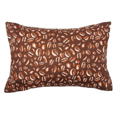 Pillowcase Ethel Coffee 50x70 ± 3 cm, 100% cotton, calico 125 g/m2