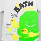 "Боди Крошка Я ""Monster. Bath time"", белый, р. 22, рост 62-68 см - фото 105478775"