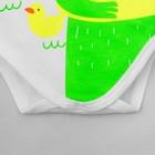 "Боди Крошка Я ""Monster. Bath time"", белый, р. 22, рост 62-68 см - фото 105478777"