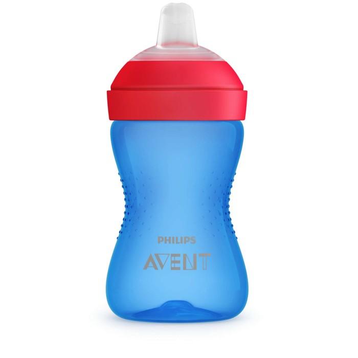 Чашка-поильник с мягким носиком, цвет голубой, 300 мл., от 9 мес.