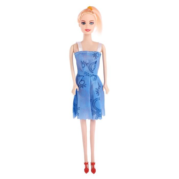 Кукла модель «Лиана» в платье, в пакете, МИКС