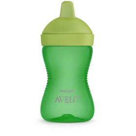 Чашка-поильник с твердым носиком, цвет зеленый, 300 мл., от 18 мес.