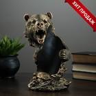 """Подставка под бутылку """"Медведь"""" бронза 14х18х26см"""