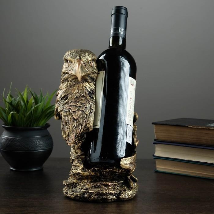 """Подставка под бутылку """"Орел"""" бронза 15х14х25см"""