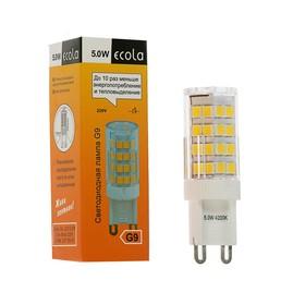 Лампа светодиодная Ecola LED Corn Micro, 5 Вт, G9, 4200 K, 320°, 50x15 мм, дневной белый