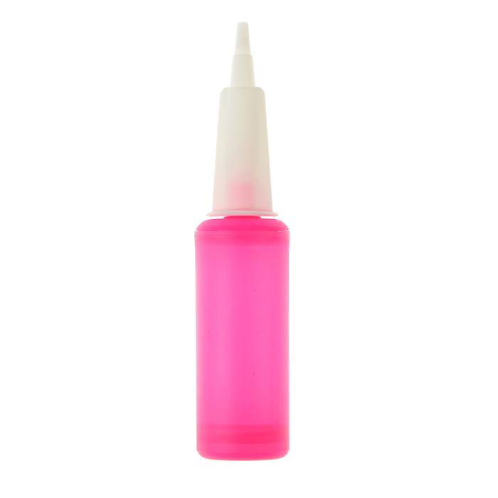 Насос для шаров, 23 см, цвет неон розовый - фото 458626