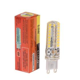 Лампа светодиодная Ecola LED Corn Micro, 5 Вт, G9, 2800 K, 320°, 50х15 мм