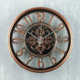 "Часы настенные, серия: Интерьер, ""Стелла"", 25х25х3 см, под бронзу"