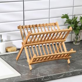 {{photo.Alt || photo.Description || 'Сушилка для посуды «Бамбуковый лес», 32,5×25,5 см, 2 яруса'}}