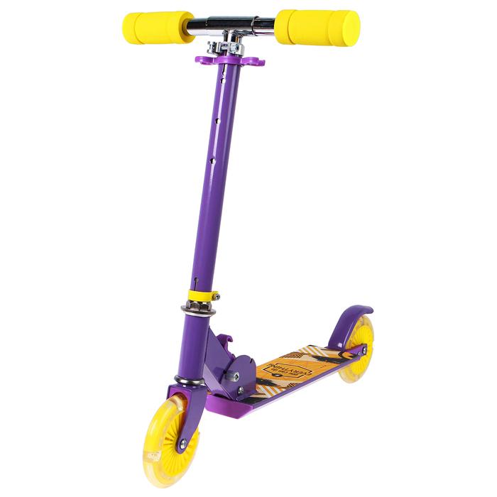 Самокат алюминиевый, складной, колёса PU d=125 мм, ABEC 7, цвет фиолетовый