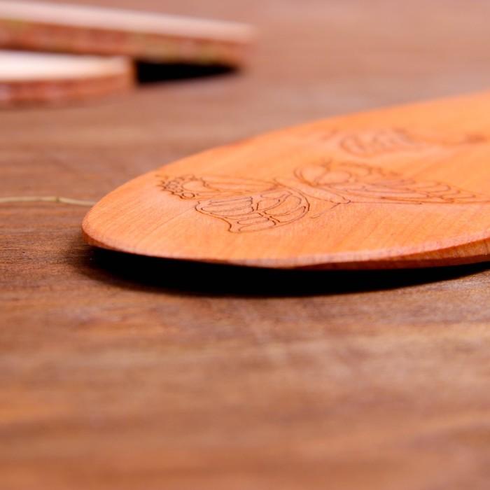 Лопатка кухонная «Бабочки», можжевельник