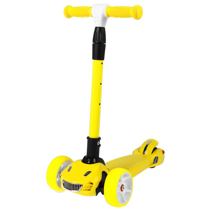 Самокат складной, колёса световые PU 120/90 мм, ABEC 7, цвет жёлтый