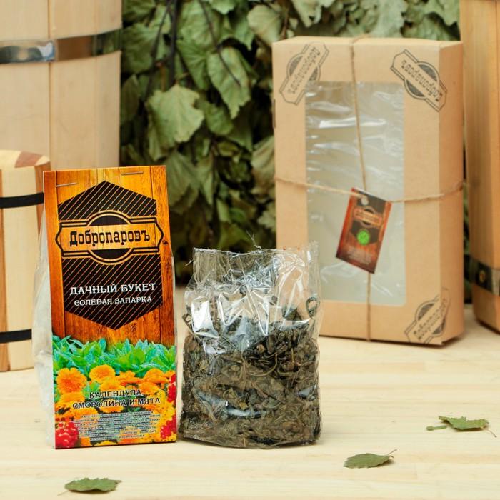 """Подарочный набор «Добропаровъ», 2 предмета: """"Калмыцкий чай"""", солевая запарка """"Эвкалипт"""""""