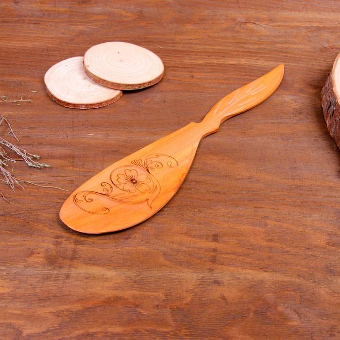 Лопатка кухонная «Цветок», можжевельник