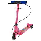 Самокат складной GRAFFITI, колёса световые PVC d=100 мм, цвет розовый
