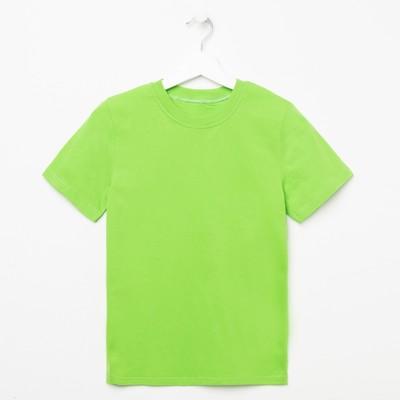 Футболка детская, цвет зелёный, рост 164 см (88)