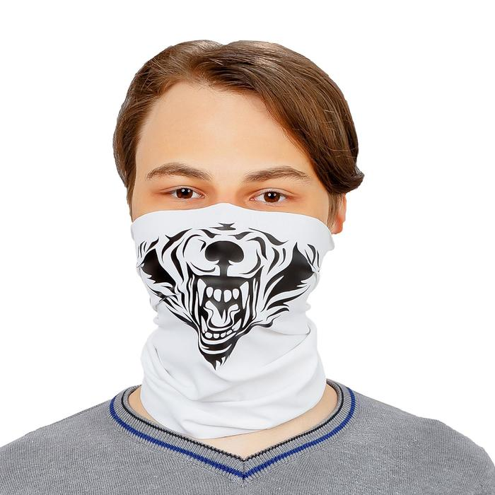 Бандана-труба Buff LUCOSA SILK WHITE WOLF, П-020/2