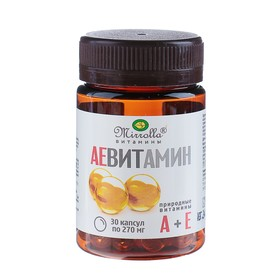 Capsules AE Vitamin Mirrolla with natural vitamins, 30 caps. in the pack.