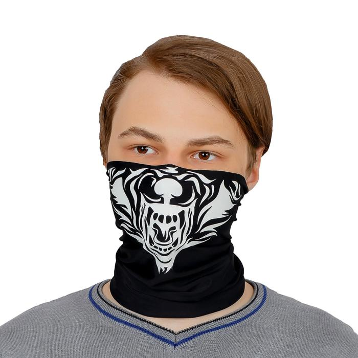 Бандана-труба Buff LUCOSA SILK BLACK WOLF, П-020/1