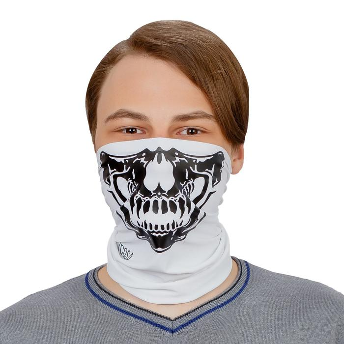 Бандана-труба Buff LUCOSA SILK WHITE SKULL, П-019/2