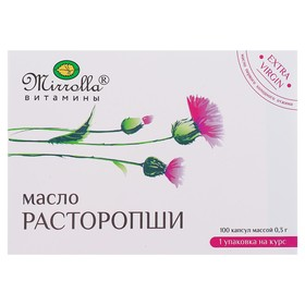 Капсулы Mirrolla  масло расторопши, 100 капсул по 0,3 г.