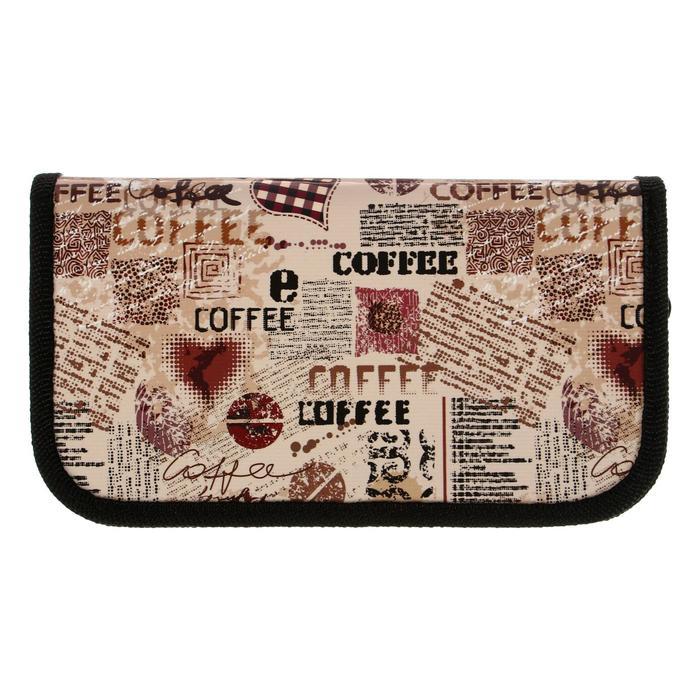 Пенал 2 секции 105x190 мм COFFEE - фото 509615003