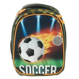 Рюкзак каркасный, Luris «Джерри 4», 38 x 28 x 18 см, 3D-рисунок, «Футбол»