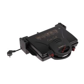 Гриль FIRST FA-5330 Black, 2000 Вт, антипригарное покрытие, черный