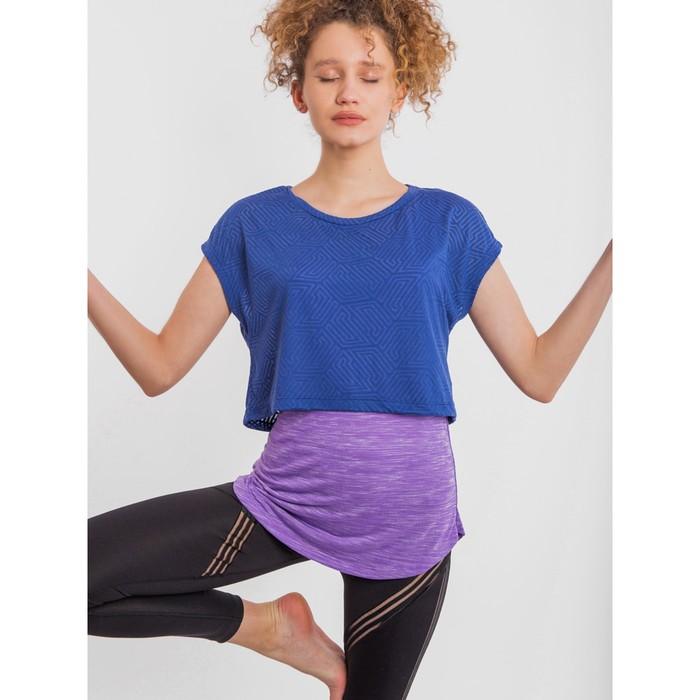 Комплект женский (футболка, майка), цвет сиреневый меланж, размер 48 (L)