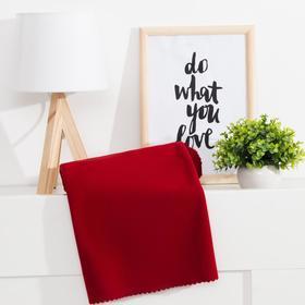 Плед «Экономь и Я» Амарант 75×100 см, цв. бордовый, пл. 160 г/м², 100% п/э