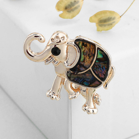 "Brooch ""Abalone"" elephant, Indian, rose gold"