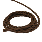 Retro wire Luazon Lighting 3x2.5, color brown, 50 m