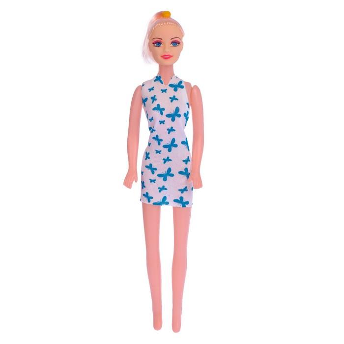 """Кукла модель """"Оля"""" в длинном платье цвета:МИКС в пакете"""