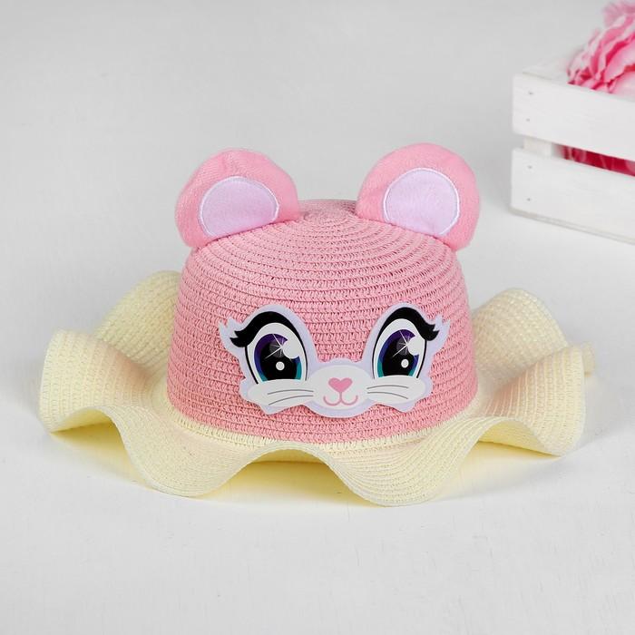 Панама «Мышка», детская, р-р. 52 см., от 2 до 6 лет