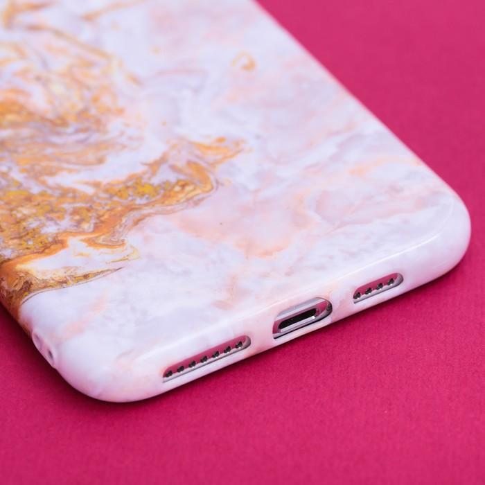 Чехол для телефона iPhone XS MAX «Мрамор», 16 × 8 см