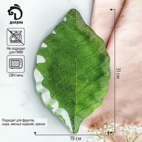 Блюдо Доляна «Лист», 31×19 см