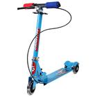 Самокат складной GRAFFITI, колёса световые PVC d=100 мм, цвет голубой