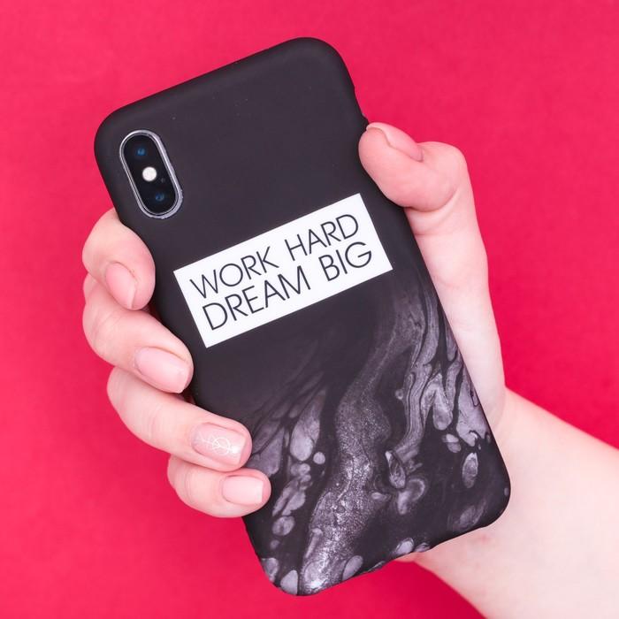 Чехол для телефона iPhone X/XS Dream big, 14.5 × 7 см