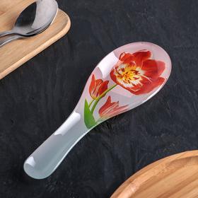 Подставка под ложку Доляна «Тюльпаны», 23×8 см