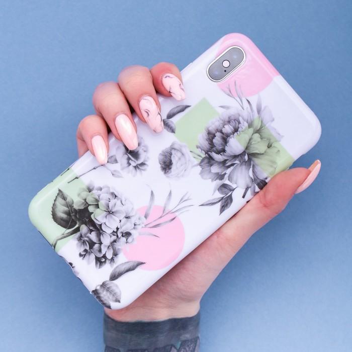 Чехол для телефона iPhone XS MAX «Гортензия», 16 × 8 см