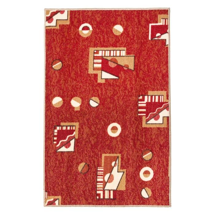 Палас МАРС, размер 200х200 см, цвет красный 315 войлок 195 г/м2