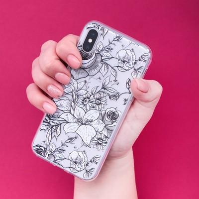 Чехол для телефона iPhone X/XS «Цветы», 14.5 × 7 см