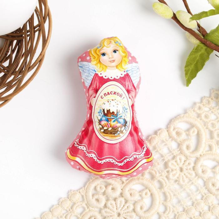 Пасхальный сувенир на магните «Ангел с куличом», 6.5 × 9.7 см