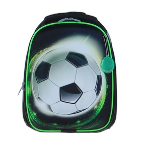 Рюкзак каркасный Calligrata, 37 х 28 х 19, «Улетный футбол», чёрный
