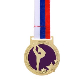 Медаль тематическая «Гимнастика», d=4,5 см
