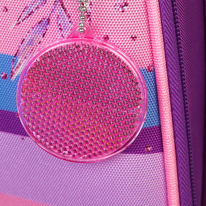 Рюкзак каркасный Calligrata, 38 x 30 x 16 см, для девочки, «Котёнок с блёстками», сиреневый - фото 369757439