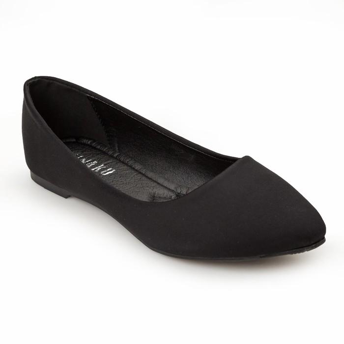 Балетки женские MINAKU, черный, размер 36